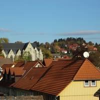 Blick auf die Kirche in Elbingerode